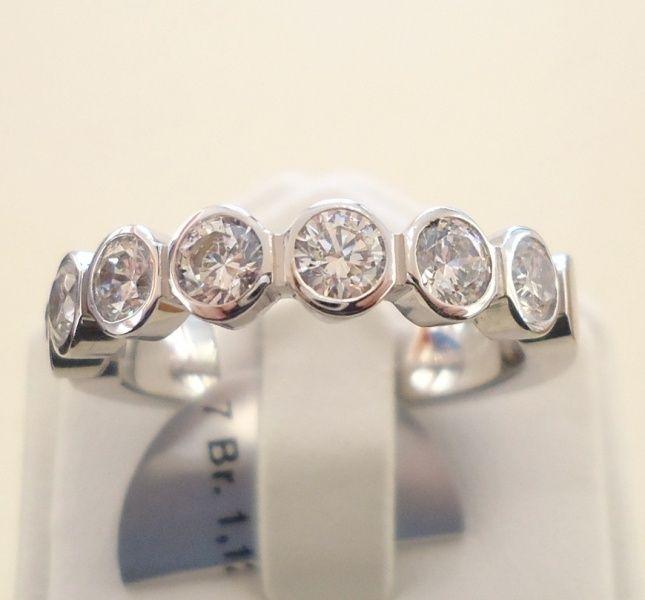 alliance ring mit 7 brillanten zus weissgold 29657 4 7. Black Bedroom Furniture Sets. Home Design Ideas