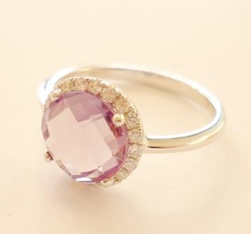 ring mit amethyst und diamanten 750 weissgold 306040. Black Bedroom Furniture Sets. Home Design Ideas