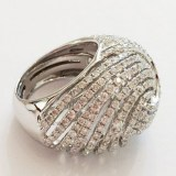 Edler Diamantring, 750 Weissgold mit 3.17ct. Diamanten