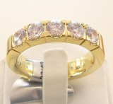 Alliance-Ring mit 5 Brillanten zus. 1.25ct., Gelbgold