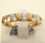 Alliance-Ring mit 5 Brillanten zus. 1.25ct., Roségold