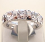 Alliance-Ring mit 5 Brillanten zus. 2.50ct., Weissgold