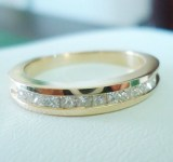 Ring aus 750 Gelbgold mit 0.50ct. Princess Diamanten