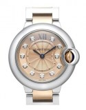 Ballon Bleu Stahl-Gold Quarz 28mm WE902052