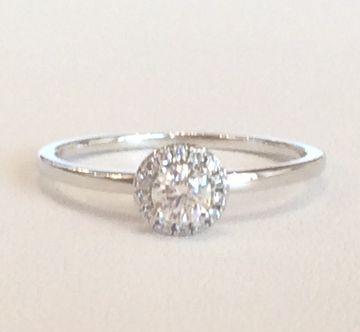 Diamantring aus 750 Weissgold: 15 Diamanten zus. 0.28ct. F/SI1_product