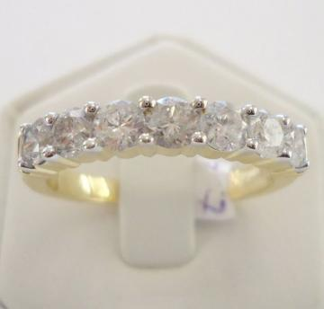 Alliance Ring aus 750 Gelbgold mit 1.00ct. Brillanten