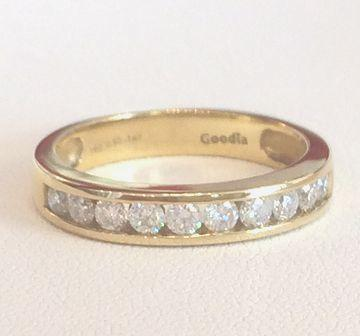 Alliance Ring mit 0.50ct. G/SI Diamanten aus 750 Gelbgold_product_product_product_product