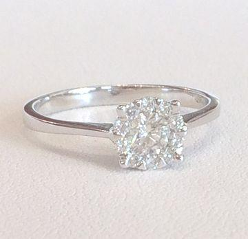 Ring mit Solitär 0.35ct. F/VS2 und 10 Diamanten 0.16ct. F/VS2_product_product_product_product_product